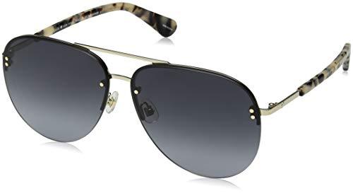 Kate Spade Women's Jakayla/s Aviator Sunglasses, White Havana, 62 mm