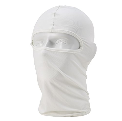 Balaclava Ski Mask, Lorsoul Winter Hat Windproof Face Mask for Men and Women Motorcycle Tactical Skiing Cycling Outdoors (White)