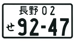 RUNMIND Hot Universal Numbers Japanese Auto Car License Plate Aluminum Black
