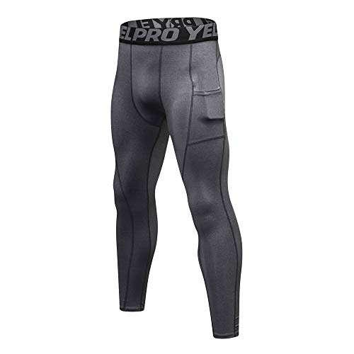 Men's Compression Pants, Amiley Compression Cool Dry Sports Tights Pants Running Workout Leggings Yoga for Men