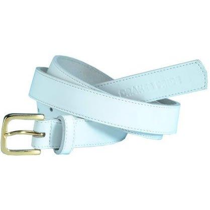 Drakes Pride White Leather Belt B7143
