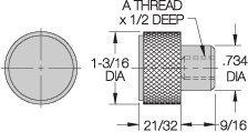CLM-12-ATK Carr Lane Manufacturing Adjustable Torque Knob: Thread M12