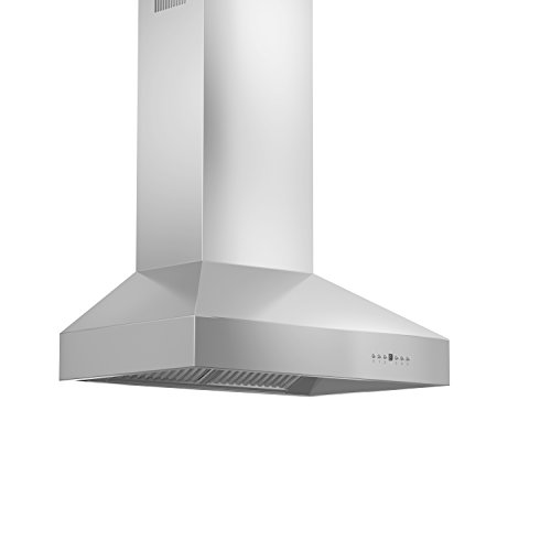 (Z Line 697-RS-42 900 CFM Wall Mount Range Hood with Remote Single Blower, 42