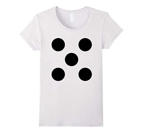 Board Game Costumes Diy (Womens Halloween Dice Costume T Shirt for Teacher Team 6 Siblings Medium White)
