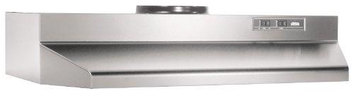 Broan 424204 Range Hood Insert with Light, Exhaust Fan for Under Cabinet, Stainless Steel, 6.0 Sones, 190 CFM, 42'' by Broan-NuTone