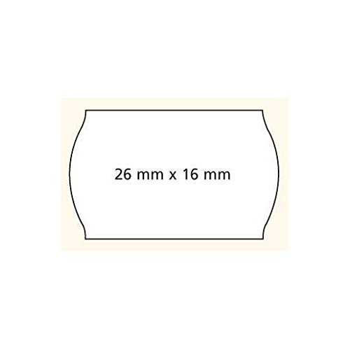 wei/ß agipa Etiketten f/ür Preisauszeichner 26 x 16 mm