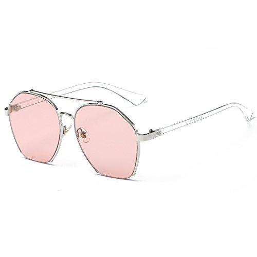 Silver Lunettes Gray Frame TLMY des Lens Lens Soleil Personnalisées Frame De Black Pink Soleil Lunettes de Couleur OxxpRwHq