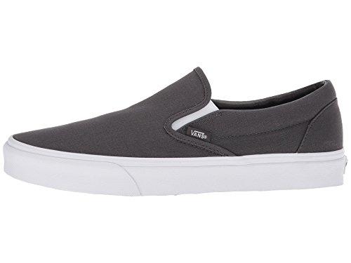 New Vans Shoes - Vans Unisex Adults' Classic Slip on Trainers, Grey (Mono Canvas) Asphalt Qd8, 8.5 UK 42.5 EU