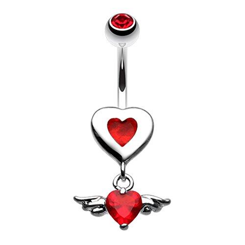 Charming Angel Heart WildKlass Belly Button Ring