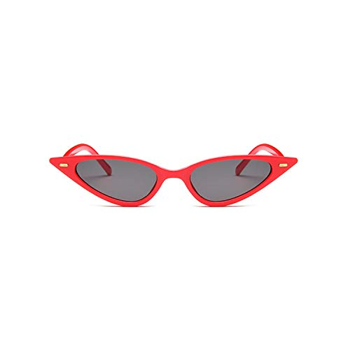 Cat Eye Sunglasses for Women Vintage Luxury Black Triangle Sun Glasses Retro Eyewear Female,red ()