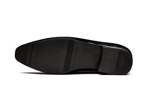 OPP Hombres Flats Zapatos de Piel Zapatos de vestir Azul
