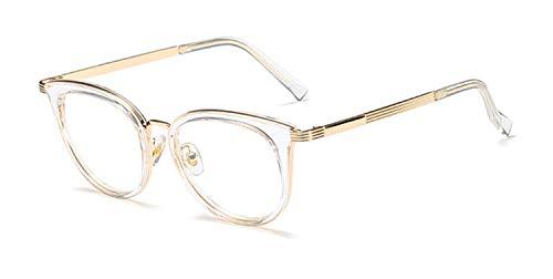 Eyeglass Frames Women Metal Eyeglasses Cat Eye Men Women Optical Fashion Computer Glasses Oculos De Grau Feminino A06 ()