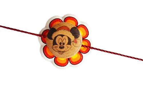 Chota Bheem Rakhi for Brother Men Raksha Bandhan Fancy Rakhee for Kids Indian Hindu Festival (Mickey Mouse)