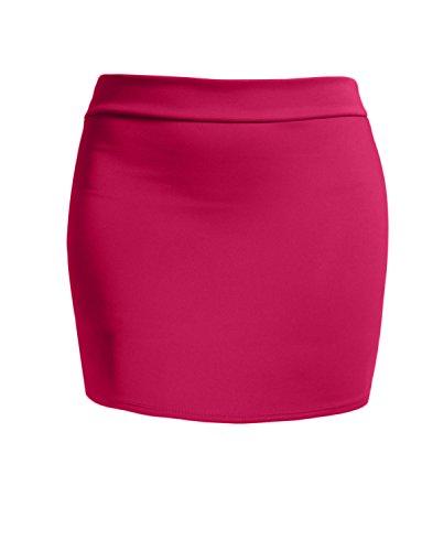 Fuschia Womens Skirt - J. LOVNY Women's Elastic Waistband Stretch Bodycon Mini/Midi Length Pencil Skirt Made in USA