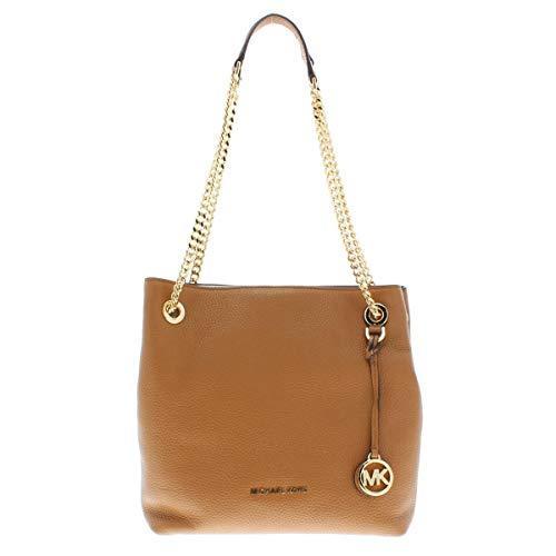 Michael Kors Womens Jet Set Chain Pebbled Leather Shoulder Handbag Brown - Bags Kors Cheap Michael