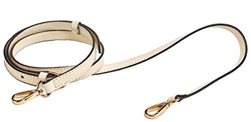 SeptCity Top Quality Grain Leather Adjustable Shoulder Straps(15 Colors) (Beige)