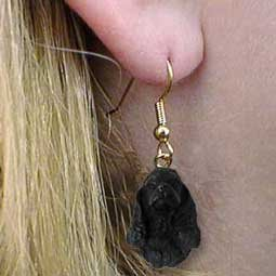 - Conversation Concepts Cocker Spaniel Black Earrings Hanging