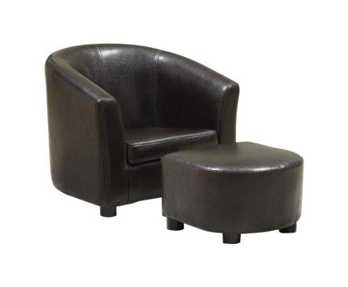 Monarch Juvenile Chair - 2 PCS Set / Dark Brown Leather-Look