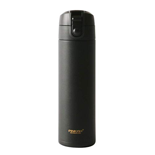 - Meigix Vacuum Insulated Water Bottle Double Wall Stainless Steel Thermos Travel Mug With Leak Proof Lid For Hot & Cold Drinks Gift Tumbler PJ-3297 17oz (Graphite Black)