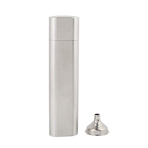 Two Tubes Stainless Steel Hip Flask and Cigar Holder Humidor Tube Travel Carry Case outdoor