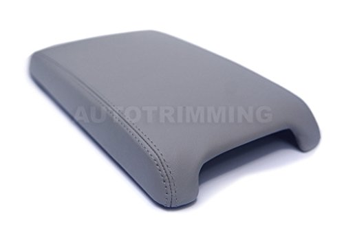 (Autoguru Toyota Camry 12-17 center console armrest synthetic leather cover ligth gray)