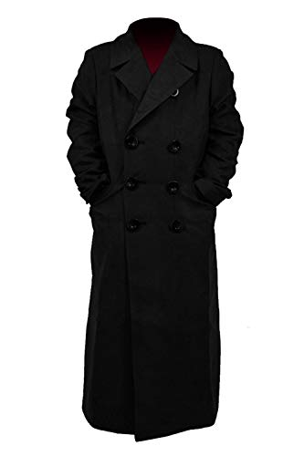 Star Flower Children Boys Brown Long Trench Coat (Black, 12) ()