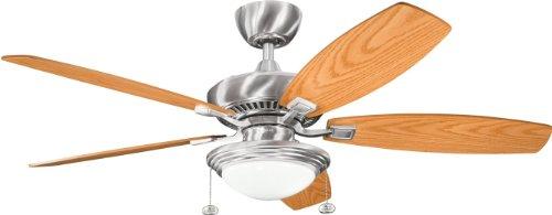 52' Canfield Fan - Kichler 300016BSS 52`` Ceiling Fan
