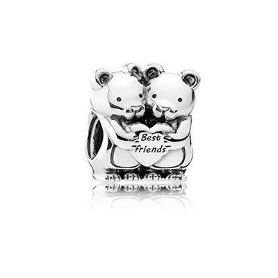 Authentic PANDORA Teddy Bears Charm In Sterling Silver With Engraving 792151 by PANDORA (Image #1)