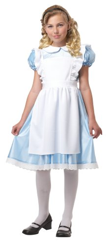 [Alice Girl's Costume, Large, One Color] (Mad Hatter Alice Costumes)