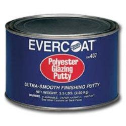 POLYESTER GLAZING PUTTY 32 OZ (Polyester Evercoat Glazing Putty)