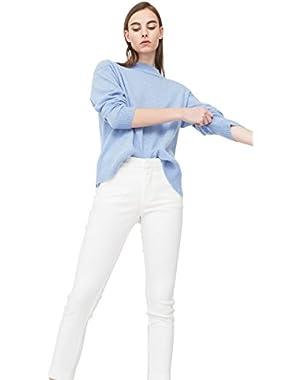 Mango Women's Crop Slim-Fit Trousers