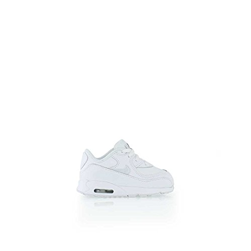 Nike Toddlers Air Max 90 Ltr (TD) White/White/Cool Grey Running Shoe 8 Infants US ()