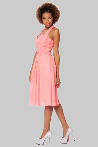 SEXYHER Charming Chiffon Halter Cocktail prom Kleid Brautjungfer ...