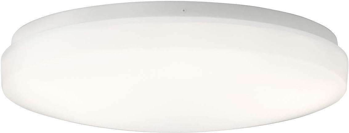 White 1-Light LED 25 Watts Kichler 10768WHLED Ceiling Space Flush Mount