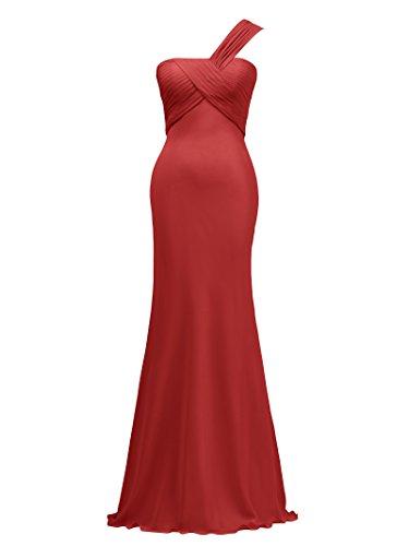 Evening Alicepub Gown Maxi Long Dress Bridesmaid Asymmetric Chiffon Dress Red Party Prom 8xwRrq8F0