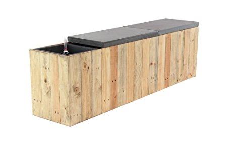 (Deco 79 35632 Planter Bench, Light Brown/Gray)