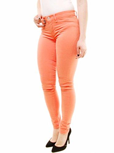 Gamba J Medio Aumento Brand Donna Jeans Magro Kumquat Arancia YHrqrwCt
