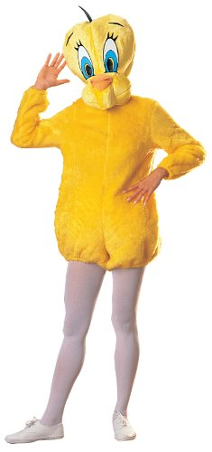 Looney Tunes Deluxe Tweety Bird Costume, Yellow, One Size