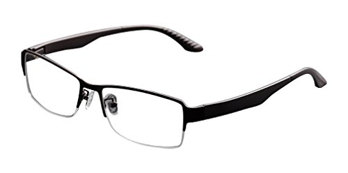 Deding Men Super Large Wide Oversized Full Frame Square Metal Glasses Frame Size 58-18-138mm - Eye Frams Glasses