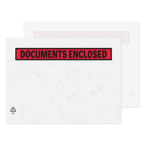 Doc Envelope - Purely Packaging A5 C5 235 x 175 mm Plain Document Enclosed Wallet Envelope (Pack of 250)