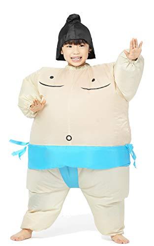 GGOPRIME Inflatable Costume Fat Suit Sumo for Kids (Blue Belt ()