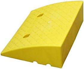 自転車上り坂スロープ、階段のためのポータブル軽量プラスチックスロープ安全なスロープ、スレッショルド - 子供のためのスケートボードの傾斜路 段差プレート (Color : Yellow, Size : 49.5*39*16.5CM)