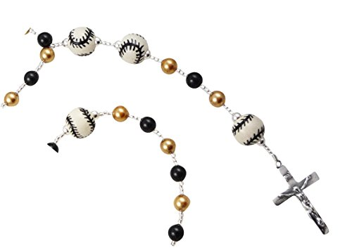 (Baseball or Sports Rosary with Swarovski Pearls in Custom Colors - Match Team - Boys or Girls)