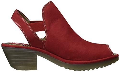 Tacco Fly London Punta Rosso Scarpe Col lipstick Aperta Red Wari952fly 002 Donna rFZnI1qrw