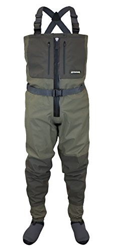 COMPASS 360 Deadfall Z Zippered Stockingfoot Breathable Chest Wader (X-Large)