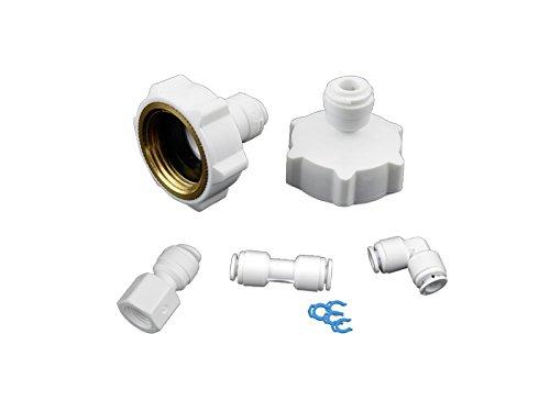 AS6KM-0 Anschluss-Set für Kühlschrank Samsung, LG, AEG, Bosch Side by Side. Anschluss für Wasserschlauch 6mm (1/4