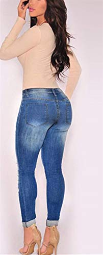 In Bolawoo Beggar Bassa Stretch Denim A Marca Di Vita Elastico Color2 Pantaloni Donna Cotton Pants Slim Mode Hole Jeans OtArO
