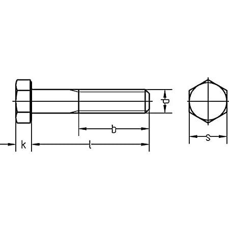 50 St/ück, galv verzinkt Dresselhaus 0//0202//001//10,0//120// //01 Sechskantschrauben mit Schaft 8.8 DIN 931 M 10 x 120