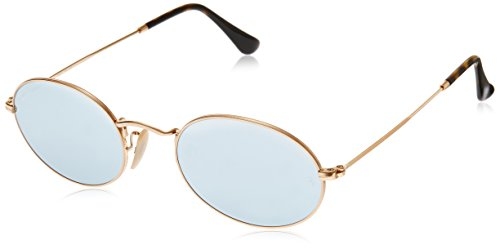 Ray-Ban Metal Unisex Non-Polarized Iridium Round Sunglasses, Gold, 48 mm