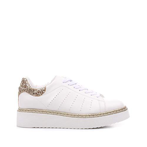 Estate Pelle Sneaker oro Bianco Primavera Cult xZBUgzg